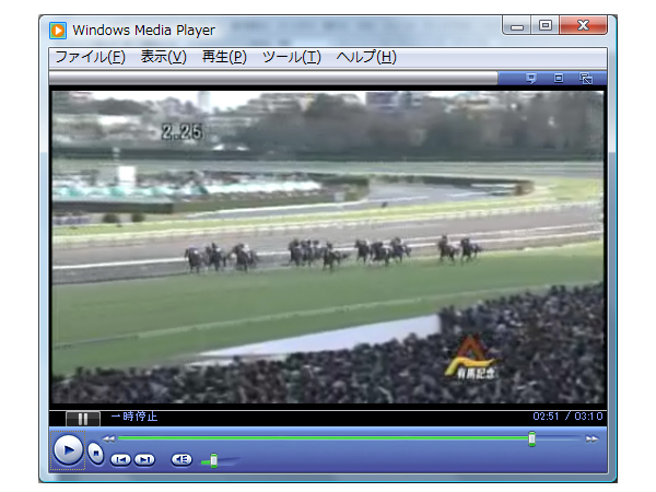実際のレース映像